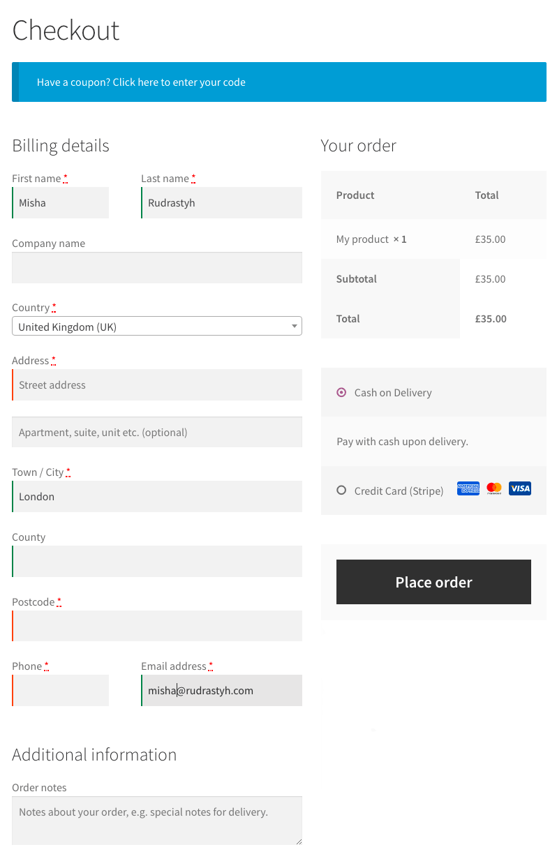 Customize woocommerce checkout page without plugin by XtreamWebsite